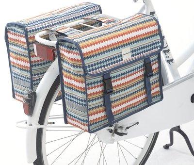NEW LOOXS Dubbele fietstas New Looxs Fiori Double - 30 liter - diamond spring