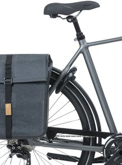 BASIL Dubbele fietstas Basil Urban Dry 50 liter - charcoal melee