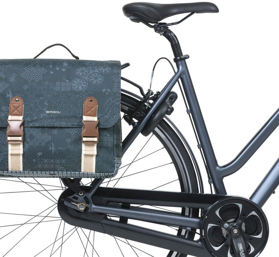 Dubbele fietstas Basil Bohème MIK - 35 liter - blauw