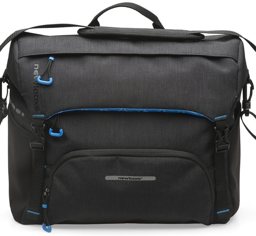 Schoudertas / pakaftas New Looxs Messenger Bag Black - 16,5 liter