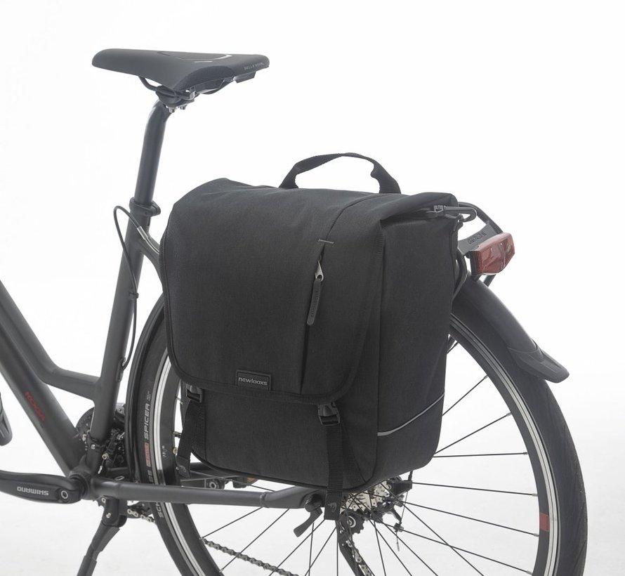 Enkele fietstas / schoudertas New Looxs Nova Single - 16 liter - zwart