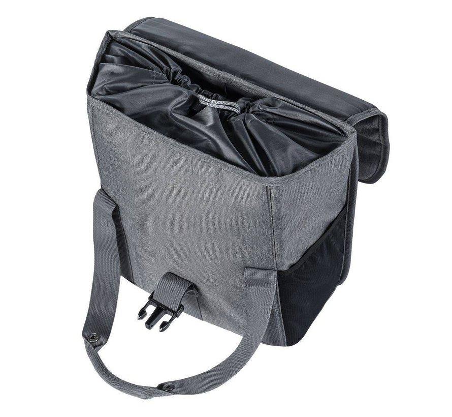 Enkele fietstas / pakaftas Basil GO Single Bag 16 liter - grijs