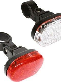 EDGE Ledverlichtingset Edge  City - 3 Led -  voor + achter  - inclusief batterijen