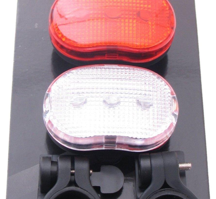 Ledverlichtingset Edge  City - 3 Led -  voor + achter  - inclusief batterijen