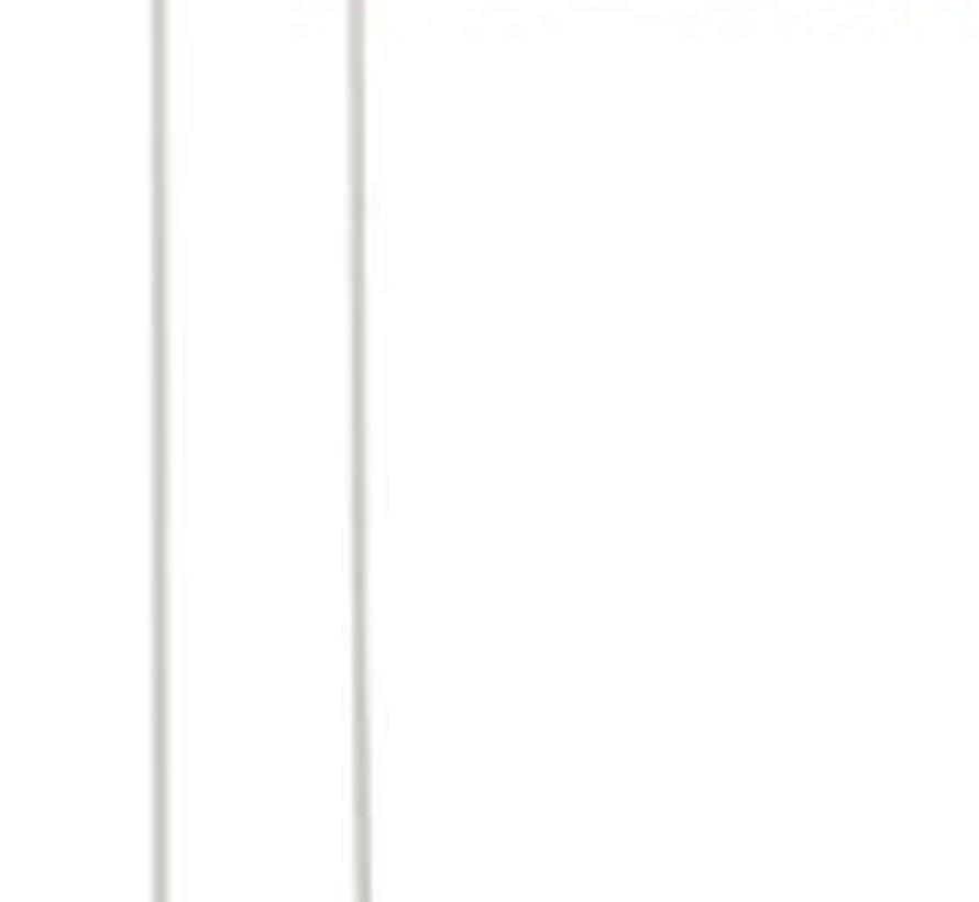 Fietsvlag Icetoolz oranje met fiberglas - deelbare stang 150 cm