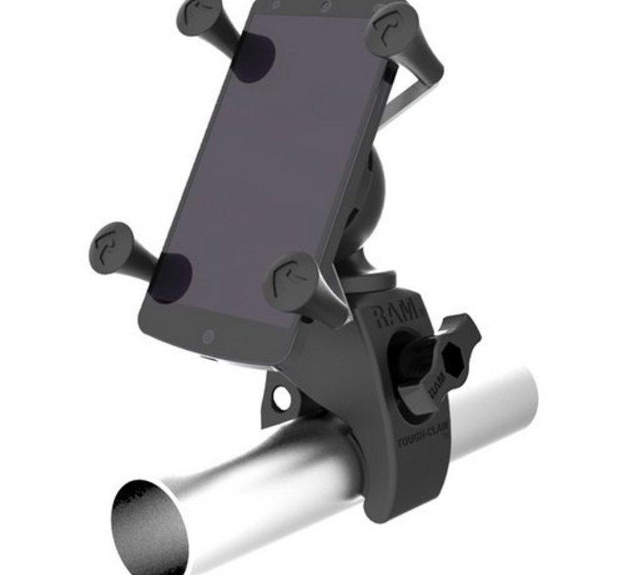 RAM Mounts Tought-Claw montageset met universele X-grip voor large smartphone