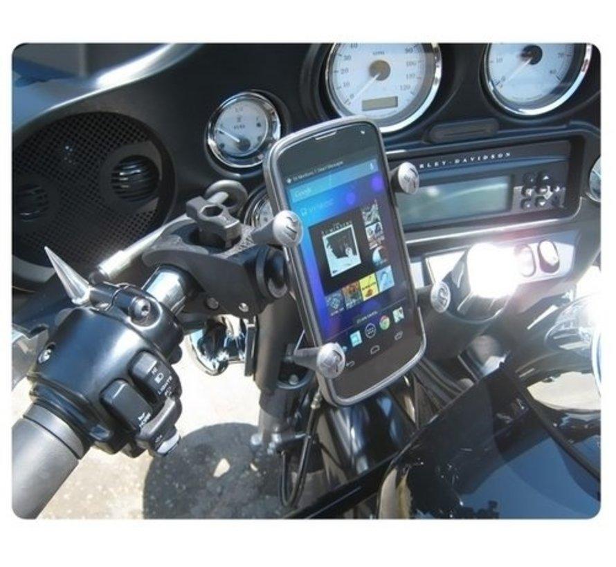 RAM Mounts Tought-Claw montageset met universele X-grip voor smartphone