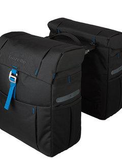 GAZELLE Dubbele fietstas Gazelle met MIK adapter - black/spark blue