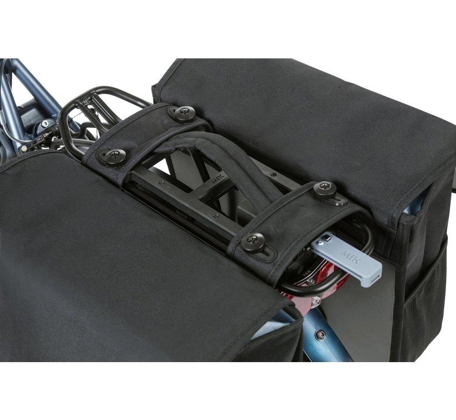 Dubbele fietstas Basil Go Double MIK - 32 liter - solid black