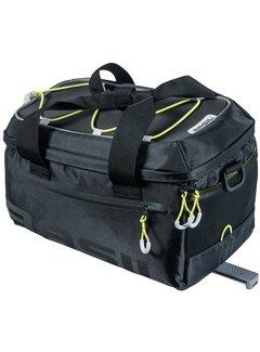 Bagagedragertas / schoudertas Basil Miles Trunkbag MIK 7 liter - zwart/lime