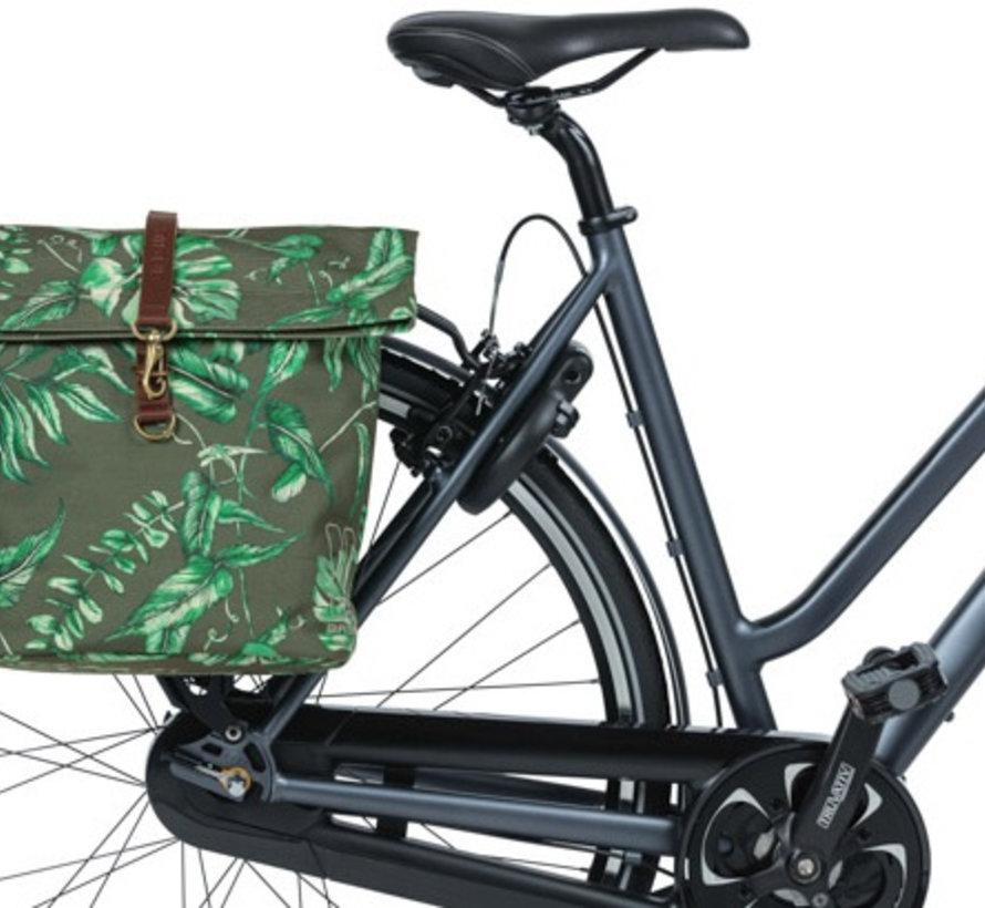 Dubbele fietstas Basil Ever-Green - 28-32 liter - thyme groen