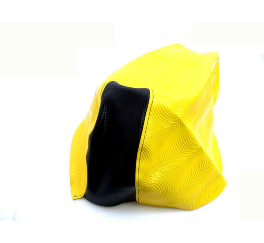 Buddydek Yamaha aerox tot bj. 2014 geel/ zwart wave