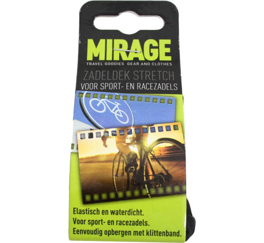 Zadeldek Mirage Sport/Race - stretch nylon - zwart