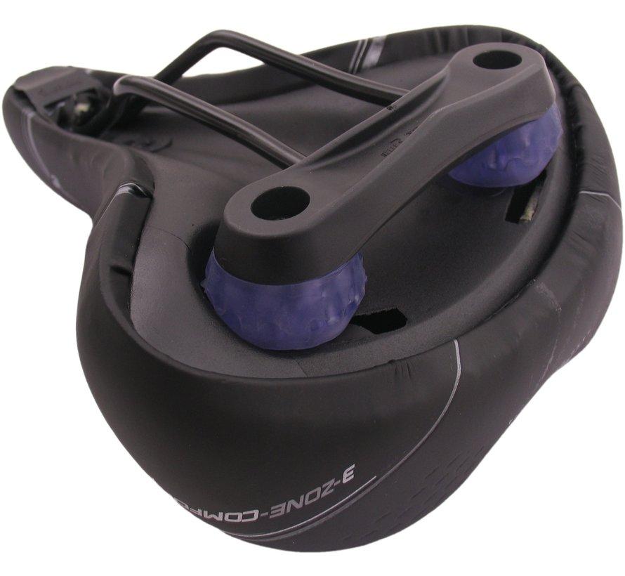 Zadel Selle Bassano Volare BigCity XXL elastomeer - zwart