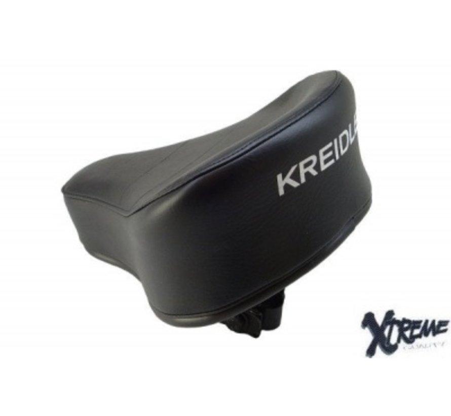 Zadel Kreidler MP2/ MP3/ flory zwart met op druk origineel model