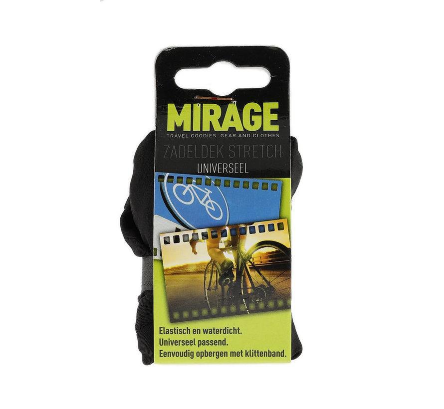 Zadeldek Mirage universeel - stretch nylon - zwart
