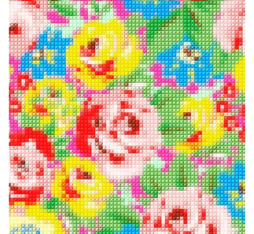 Zadeldek BikeCap Stitchy Flowers