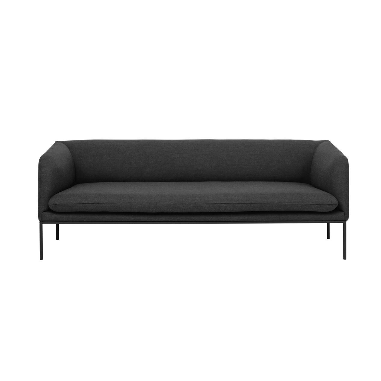 Superb Ferm Living Turn Sofa 3 Wool Solid Dark Grey Pdpeps Interior Chair Design Pdpepsorg