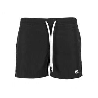EMBROIDERED POLYGON BLACK SWIMSHORT BLACK