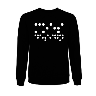 PRINTED BRAILLE SWEATER BLACK