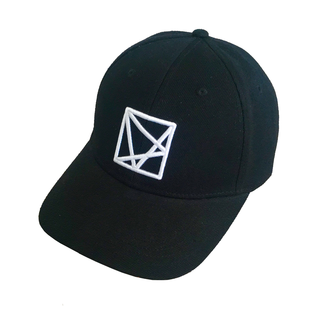 EMBROIDERED POLYGON CAP BLACK