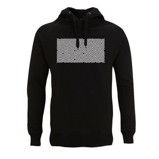 EMBROIDERED MAZE HOODIE BLACK
