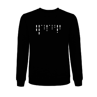 PRINTED MORSE SWEATER BLACK