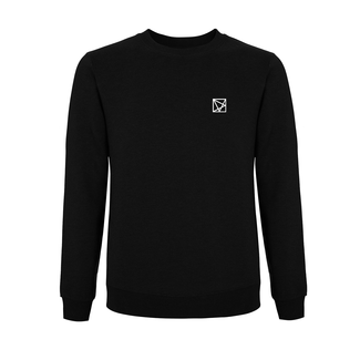 EMBROIDERED POLYGON SWEATER BLACK