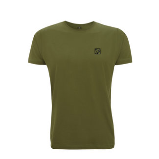 EMBROIDERED POLYGON T-SHIRT GREEN