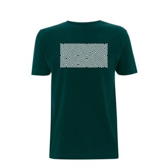 PRINTED MAZE T-SHIRT BOTTLE GREEN