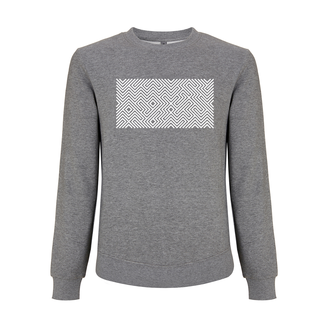 EMBROIDERED MAZE SWEATER MELANGE GREY