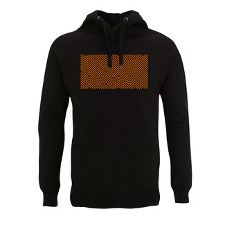EMBROIDERED MAZE MULTICOLOR  HOODIE BLACK