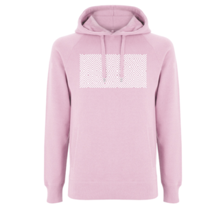 EMBROIDERED MAZE  HOODIE PINK