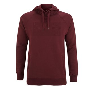 EMBROIDERED MAZE  HOODIE CLARET RED
