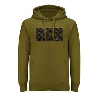 EMBROIDERED MAZE  HOODIE GREEN