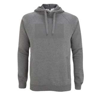 EMBROIDERED MAZE  HOODIE MELANGE GREY