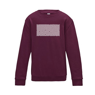 PRINTED MAZE SWEATER BURGUNDY