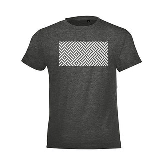 PRINTED MAZE T-SHIRT CHARCOAL