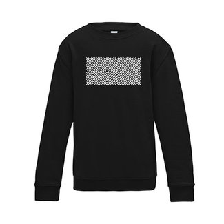 PRINTED MAZE SWEATER BLACK