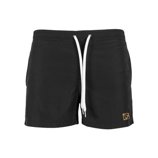 EMBROIDERED POLYGON COPPER SWIMSHORT BLACK