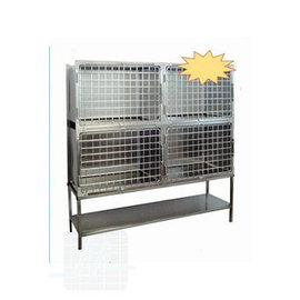 Stainless steel cage 70x55x50cm