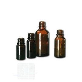 Bouteille verre marron 50 ml. 10 pièces