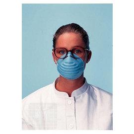 Gesichtsmaske blau geformt