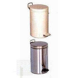 Abfallbehälter 12liter Chrome / Emaile