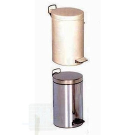 Waste bin 12liter Chrome /Emaile