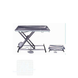 Scissor Table STAINLESS STEEL drainage/flat
