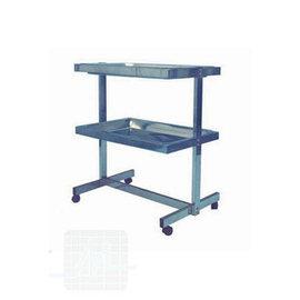 Table assistante INOX 60x40 cm 2 plateax par unité