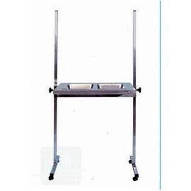 Table assistante INOX avec 2 plateaux par unité