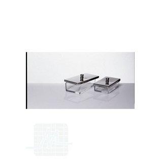 Glass tray w. lid 20x10x6cm