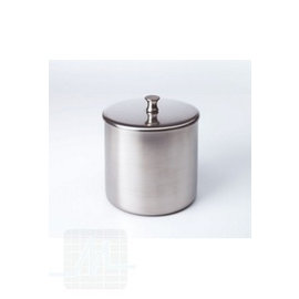 Cotton wool canister Stainless steel+ lid